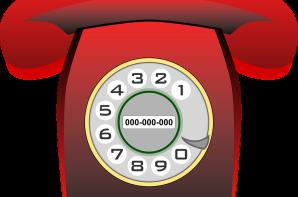 FOTO: Foto ilustrativa de um telefone da cor vermelha.