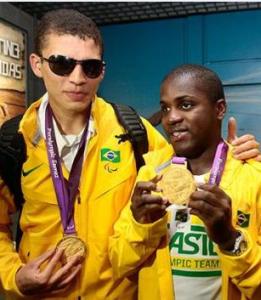 Cassio e Jefinho medalha