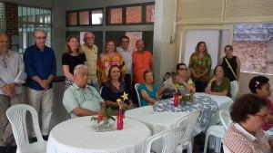 FOTO: A foto mostra a mesa composta pelos membros da Diretoria junto aos membros do Conselho Deliberativo.