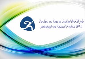 Arte Parabéns Goalball regional nordeste